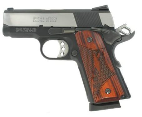 Smith & Wesson 1911 Sub Compact Pro Series Pistol .45 ACP 3in 7rd Two Tone 178052