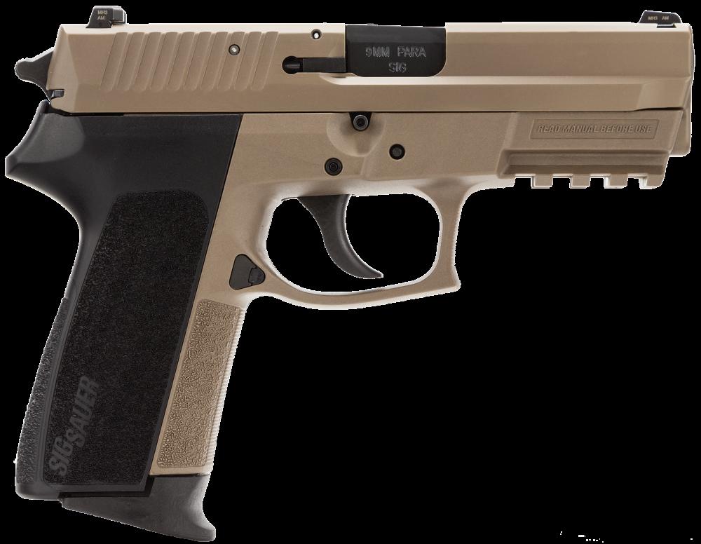 "Sig Sauer SP2022 Full Size 9mm 15+1 3.9"" Pistol in Flat Dark Earth (FDE) (4 Point Safety) - E2022FDEBLKG"