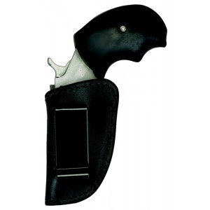 Homeland HLM037BB Holster Boot ''N Belt NAA Mini-Revolver Leather Blac - HLM037BB