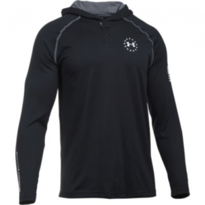 Under Armour Freedom Tech Men's 2-Button Hoodie in Black - Small
