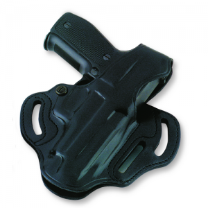 """Galco International Cop 3-Slot Left-Hand Belt Holster for Sig Sauer P229 in Black (3.9"""") - CTS251B"""