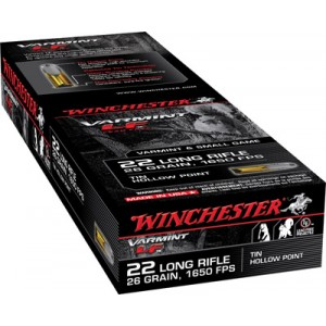 Winchester Super-X .22 Long Rifle Hollow Point, 26 Grain (50 Rounds) - X22LRHLF