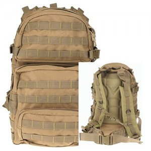 Drago Gear Assault Weatherproof Backpack in Tan 600D Polyester - 14302TN