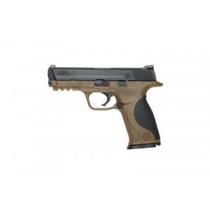 """Smith & Wesson M&P Full Size .40 S&W 15+1 4.25"""" Pistol in Fired Case/Black/Flat Dark Earth - 10189"""