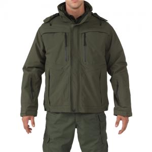 5.11 Tactical Valiant Duty Men's Full Zip Coat in Sheriff Green - 3X-Large