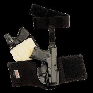 "Galco International Ankle Glove Right-Hand Ankle Holster for J-Frame in Black (2.125"") - AG158"