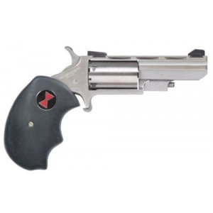 """North American Arms Black Widow .22 Winchester Magnum 5+1 2"""" Pistol in Stainless - NAA-BWMA"""