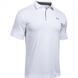 Under Armour Tech Men's Short Sleeve Polo in White - 2X-Large