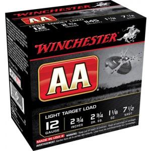 "Winchester AA .12 Gauge (2.75"") 7.5 Shot Lead (250-Rounds) - AA127"