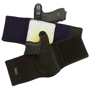 """Galco International Ankle Lite Right-Hand Ankle Holster for Glock 26, 27 in Black (5"""") - AL286"""