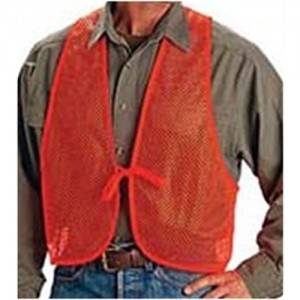 Allen Company Safety Vest in Polyester Blaze Orange - One Size Fits Most