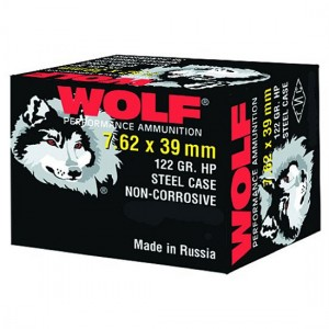 Wolf Performance Ammo 7.62X39 Hollow Point, 123 Grain (20 Rounds) - 762BHP20BOX