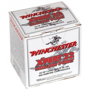 Winchester Xpert .22 Long Rifle Lead Hollow Point, 36 Grain (5000 Rounds) - XPERT22CS