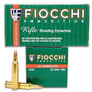 Fiocchi Ammunition .223 Remington Full Metal Jacket, 55 Grain (1000 Rounds) - 223ACS