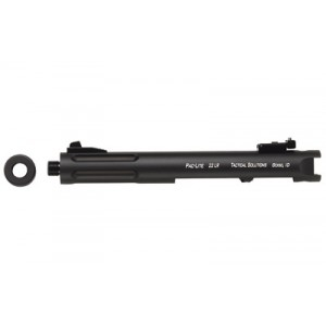 """Tactical Solutions Pac-lite, Threaded Barrel, Fits Ruger Mark I, Ii, Iii And 22/45 Series Pistols, 4.5"""", Fluted, Black Matte Finish Pl4.5terf-02"""