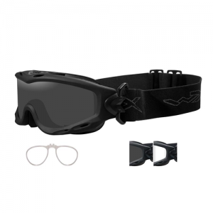 Wiley X - Spear Goggle  Matte Black Smoke Grey / Clear / RX Insert