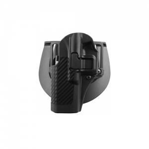 """Blackhawk CF Serpa Right-Hand Multi Holster for Smith & Wesson 5900/4000 Series in Black Carbon Fiber (4"""") - 410010BK-R"""