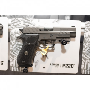 "Sig Sauer P220 Full Size Legion .45 ACP 8+1 4.4"" Pistol in Legion Grey PVD Alloy (Ambidextrous Safety) - 220R45LEGION"