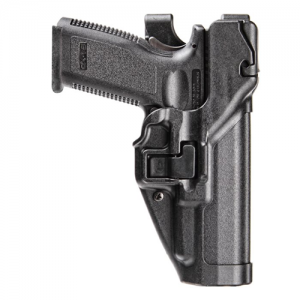 "Blackhawk Level 3 Serpa Right-Hand Thigh Holster for Beretta 92 in Black (5"") - 430604BK-R"