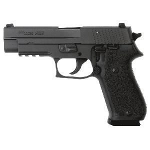 "Sig Sauer P220 Full Size .45 ACP 8+1 4.4"" Pistol in Black Nitron (Black Hogue 1-Piece Rubber Grip) - 220R45SBSS"
