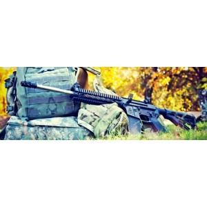 "2 Vets LRRP .223 Remington/5.56 NATO 30-Round 16"" Semi-Automatic Rifle in Black - 2VA556LRRP"