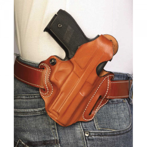 Thumb Break Scabbard Belt Holster Color: Tan Finish: Basket Weave Unlined Gun Fit: Colt Cobra (2.5  bbl) Hand: Right - 001TE33Z0