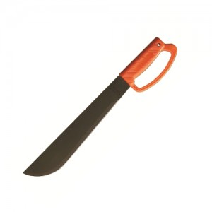 "Ontario 8512 OKC 12"" Machete Orange Poly Handle 1095 Carbon Steel"