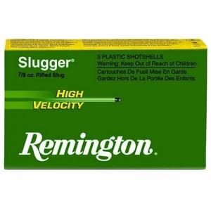 "Remington Slugger High Velocity .12 Gauge (2.75"") Slug Copper (5-Rounds) - SPHV12RS"