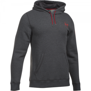 Under Armour Charged Cotton Storm Men's Pullover Hoodie in Carbon Heather (FW16) - 2X-Large
