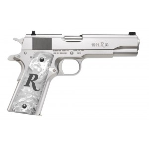 """Remington 1911 .45 ACP 7+1 5"""" 1911 in High Polished Stainless Steel (R1 High Polish) - 96304"""