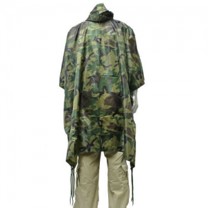 5ive Star Gear GI Spec Lightweight Men's Poncho in Woodland - Adult