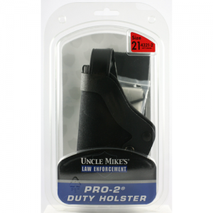 Uncle Mike's Duty Left-Hand Belt Holster for Glock 17, 19, 22, 23, 31, 32, 36 in Black Kodra Nylon - 43212