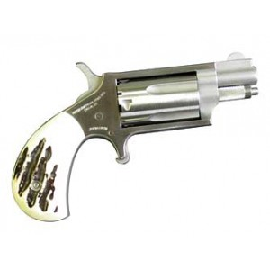 """North American Arms Mini-Revolver .22 Winchester Magnum 5-Shot 1.125"""" Revolver in Fired Case/Stainless - NAA-22MSGSTG"""