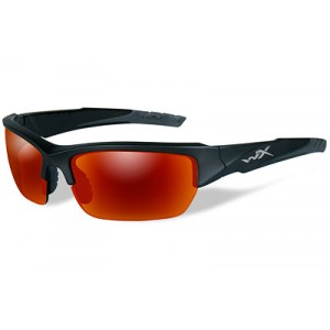 Wiley X Valor, Sunglasses, Small To Large Head Size, Black 2 Tone Frame, Polarized Crimson Mirror Lens, Ansi Approved Chval05