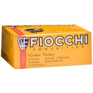 "Fiocchi Ammunition Turkey .12 Gauge (3.5"") 4 Shot Nickel-Plated Lead (10-Rounds) - 1235TRK4"
