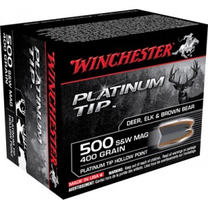 Winchester Supreme .500 S&W Platinum Tip Hollow Point, 400 Grain (20 Rounds) - S500PTHP