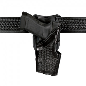 Safariland Model 2855 Level II Retention, Mid-Ride Right-Hand Belt Holster for Smith & Wesson 3953, 4053TSW, 5943, 6944 in Plain Black - 2955-420-61