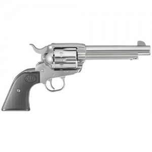 """Ruger Vaquero .45 Colt 6-Shot 5.5"""" Revolver in Gloss Stainless - 5104"""