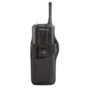 Boston Leather 5609RC-1 Plain Black Radio Holder for Harris XG-75