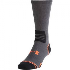 UA Hitch Lite II Boot Socks Size: Large Color: Charcoal/Orange