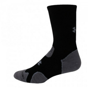 UA Hitch Heavy Cushion Boot Socks Color: Black/Grey Size: Large