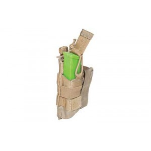 5.11 Tactical Double Pistol Bungee Magazine Pouch in Sandstone - 56155