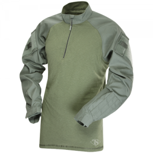 Tru Spec TRU Combat Shirt Men's 1/4 Zip Jacket in Olive Drab - Medium