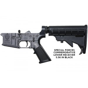 Us Autoweapons Lower, Special Forces, Semi-automatic, 223 Rem/556nato, 6 Position Stock, Black Finish, Certified Special Forces Logo Usm456sf