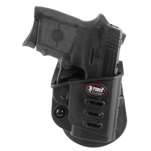 Fobus SWBGLH Evolution Paddle Holster - Left-Handed Smith & Wesson Bodyguard Plastic Black - SWBGLH