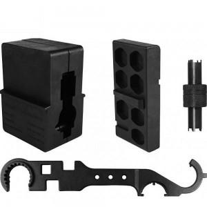 Aim Sports Inc Atarak AR15/M4 Armorer's Kit Vise Blocks Wrench Sight Tool Plastic/Steel ATARAK