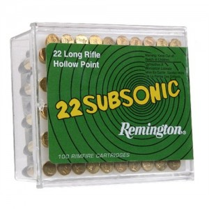 Remington Subsonic .22 Long Rifle Hollow Point, 38 Grain (100 Rounds) - SUB22HP1