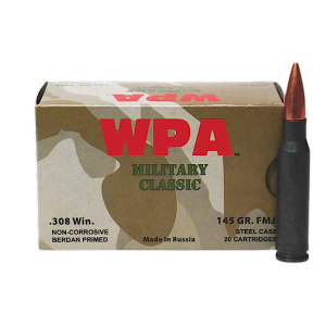 Wolf Performance Ammo Military Classic .223 Remington/5.56 NATO Soft Point, 62 Grain (500 Rounds) - MC22362SP