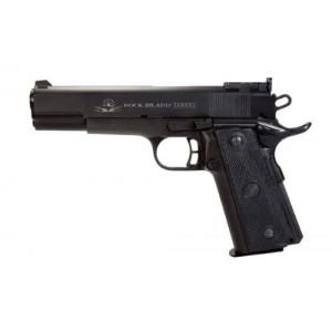 "Rock Island Armory 1911-A2 22TCM Target .22 TCM/9mm 17+1 5"" 1911 in Fully Parkerized Frame & Slide - 51680"