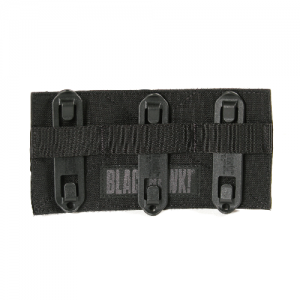 STRIKE Patch panel  S.T.R.I.K.E. Patch panel w/Speed clips, Black, Hook and loop panel for attaching ID panels to MOLLE/S.T.R.I.K.E., Mounts with Speed Clips (included), 3h x 5.5w
